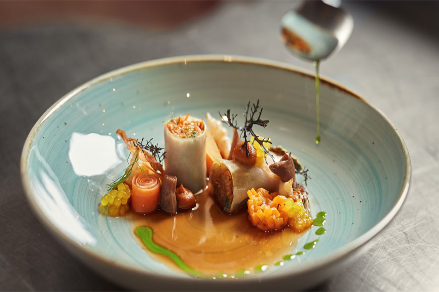 Culinair bord van Bij Luc Bellincx